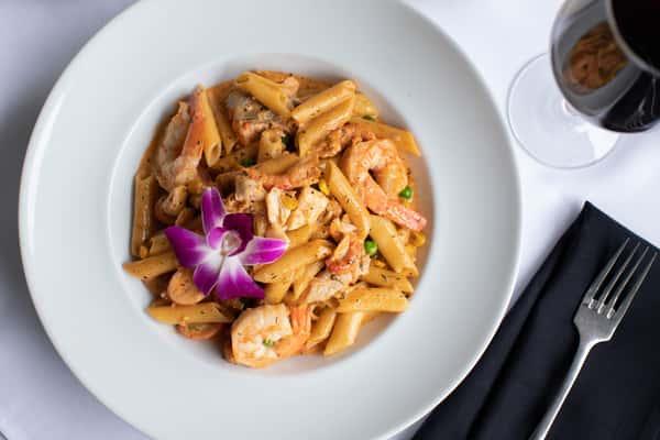 Cajun Seafood Penne Pasta