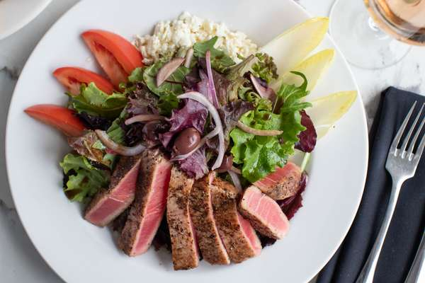 Seared Rare Ahi Tuna Salad