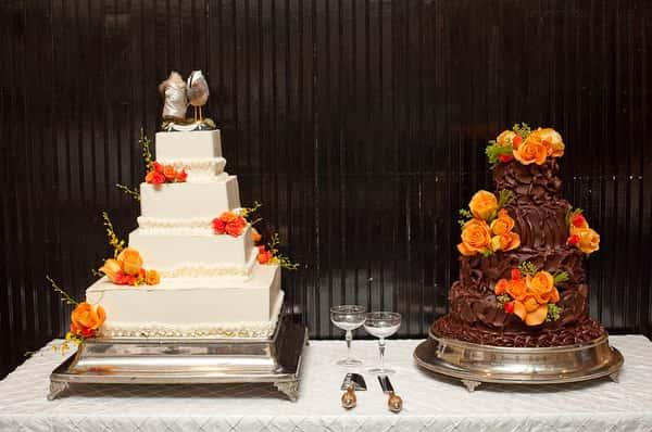 Two large wedding cakes