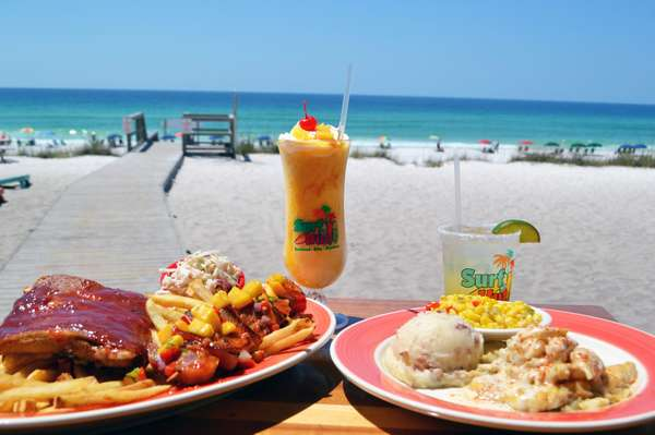 food and drinks on the beach