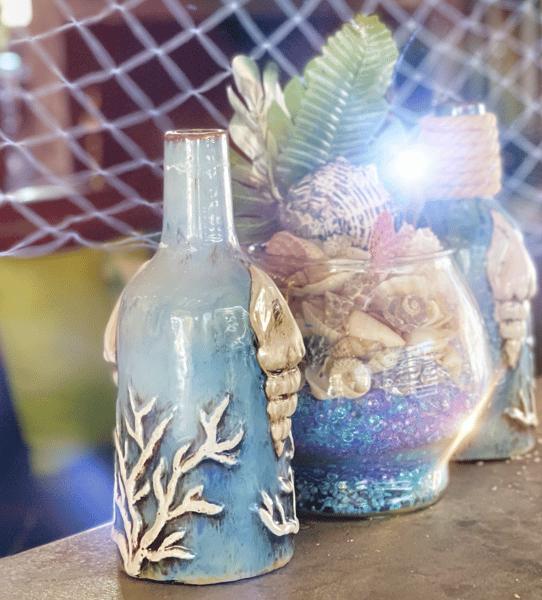 Blue Vases at Tiki on Main