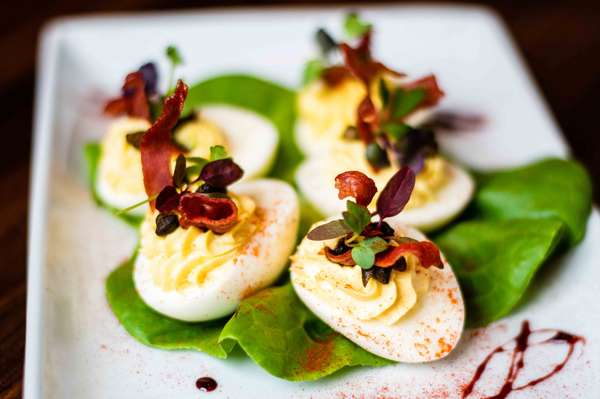 Truffle Deviled Eggs