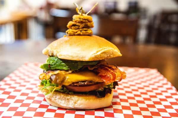 Avocado Bacon & Cheddar Steak Burger or Chicken Breast Sandwich
