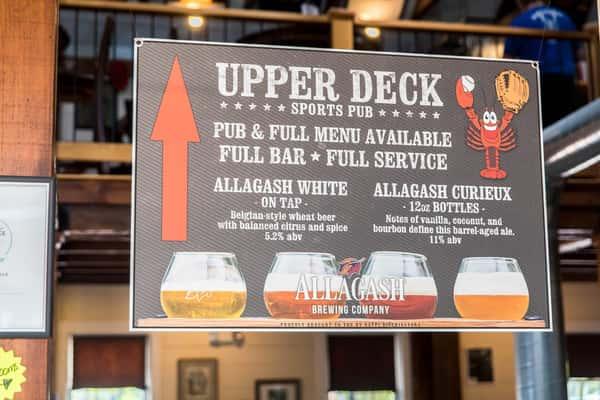 upper deck sports pub sign