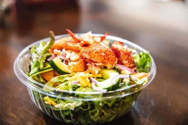 garden salad with lobster