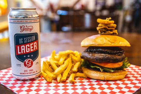 burger and lager