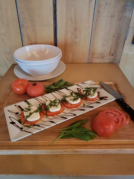 Grilled Tomato Caprese