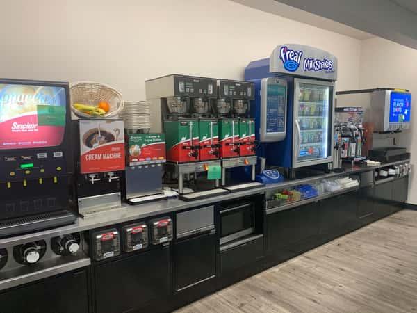 self-serve pepsi drink machine