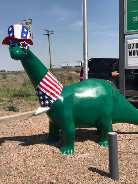 patriotic 4th of july dino