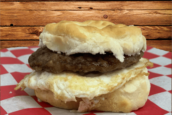 Breakfast Sandwiches with Egg & Meat