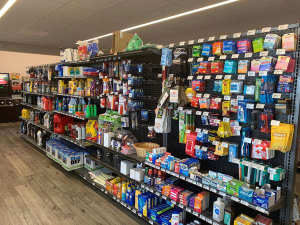 convenience store aisle with food