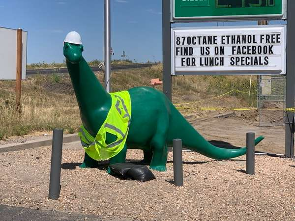 construction worker dino