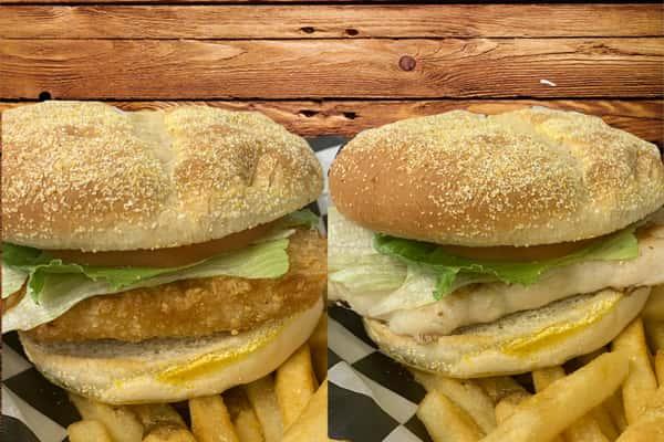 Breaded or Grilled Chicken Breast Sandwich