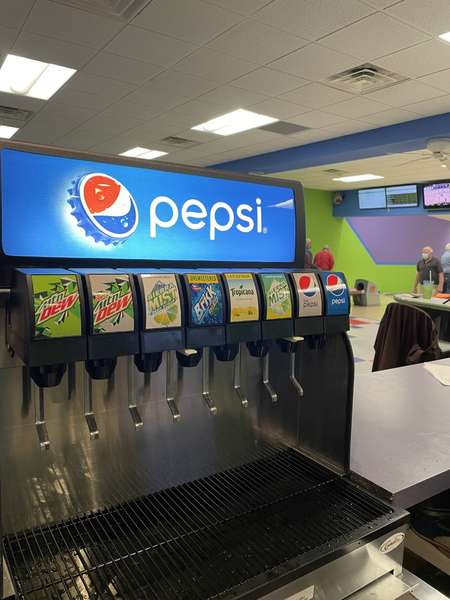 serving Pepsi products