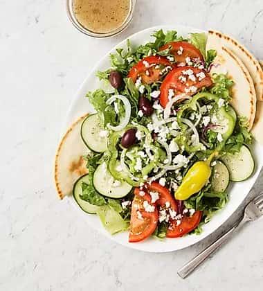 pita and salad