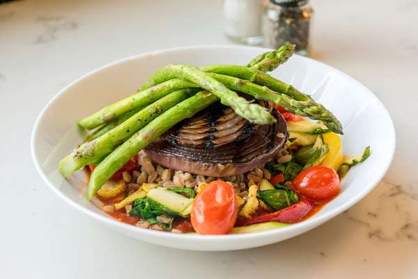 Grilled Vegetable Farro or Quinoa Bowl