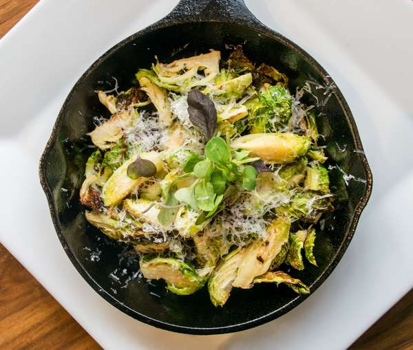 Fried or Roasted Brussels Sprouts with Brown Butter and Parmesan Cheese
