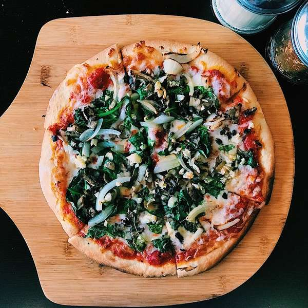 Spinach Combo Pizza