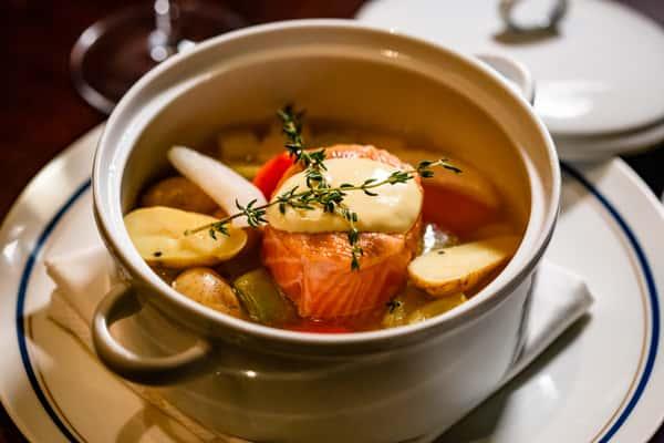 Scottish Salmon 'Pot Roast'*