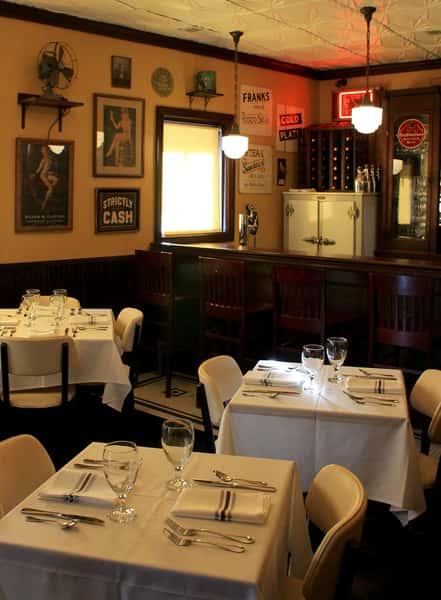 Interior shot of dining room