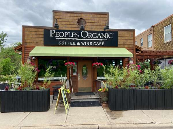 Exterior of People's Organic Cafe