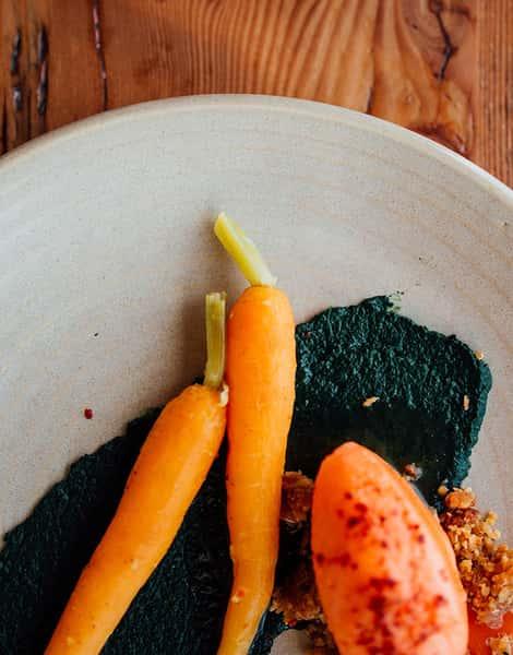 plated veggies