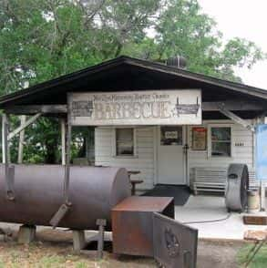 Church BBQ location Huntsville, Texas