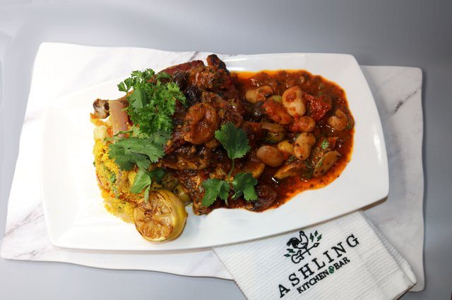Moroccan Chicken Tagine with Preserved Lemons & Olives