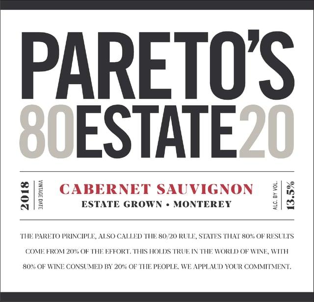 Cabernet Sauvignon - Pareto's Estate Eighty20