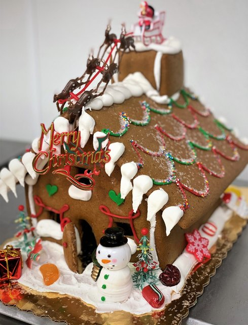 Gingerbread House Assembled & Decorated