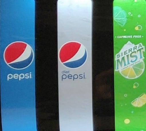 Pepsi, Diet Pepsi, Sierra Mist, Iced Tea