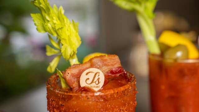 T'S BOURBON + BACON BLOODY MARY*