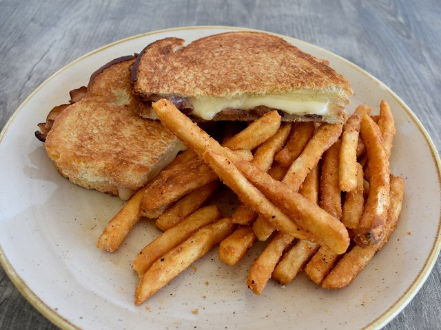 GRILLED CHEESE + BACON PANINI