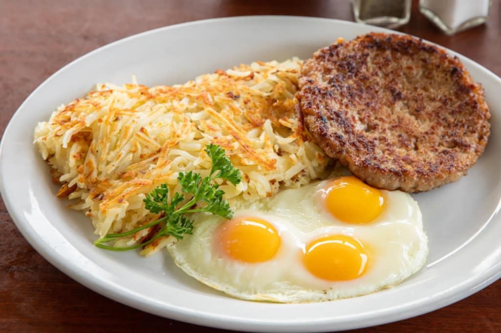 Sausage Patty & Eggs